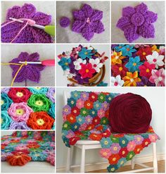 How to make Crochet Wildflowers diy wildflowers crochet diy crafts do it yourself diy projects