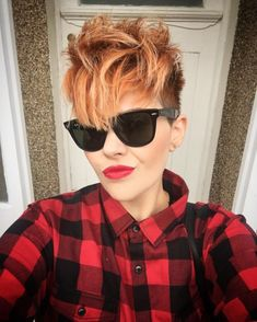 Mohawk Short Hairstyle For Long Face