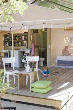 Glamping aan het Gardameer? Wegens annulering vrij gekomen:13 juli voor 2 weken! Geniet van de Tendi Safari Lodgetent met eigen badkamer op camping Weekend bij het Gardameer in Italie! www.tendi.nl