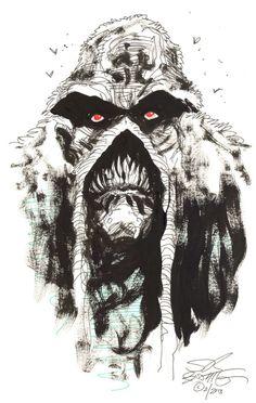 Swamp Thing Red Eye Comic Art