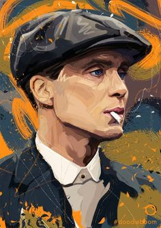 Peaky Blinders is one of those shows that actually prompts some really cool fan art. True Detective is another Peaky Blinders Poster, Peaky Blinders Wallpaper, Peaky Blinders Quotes, Peaky Blinders Thomas, Cillian Murphy Peaky Blinders, Peaky Blinders Merchandise, Peeky Blinders, Red Right Hand, True Detective