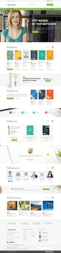 Book Library is clean and modern #design PSD template for online #bookshop #eCommerce website with 17 layered PSD pages download now..