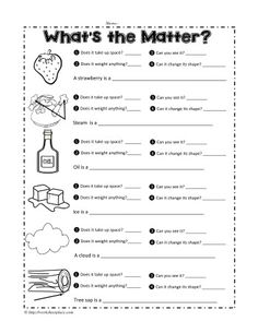 properties of matter worksheet 1 projects to try matter worksheets science worksheets science. Black Bedroom Furniture Sets. Home Design Ideas