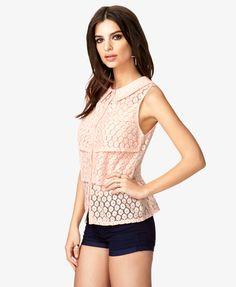 Crocheted Lace Shirt $23.80
