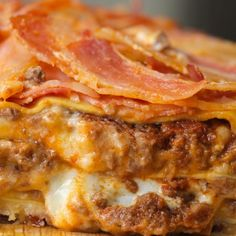 Bacon Wrapped Lasagna