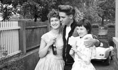 """ Elvis with fans outside his home in Bad Nauheim, Germany in 1959. Photographs taken by Claus-Kurt Ilge. """