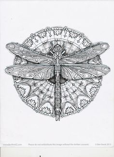 Dragonfly - Ornation Creation - art by Cindy Lysonski