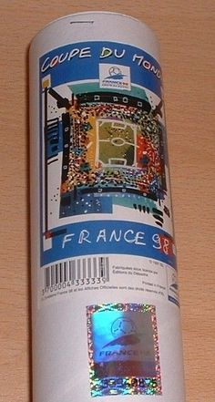 Football poster #world cup france 98 #original official tournament tube #hologram, View more on the LINK: http://www.zeppy.io/product/gb/2/142140154951/