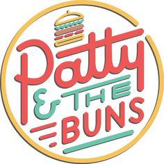 Patty & The Buns by Matthew Wong, via Behance Typography Logo, Logo Branding, Branding Design, Logo Design, Lettering, Graphic Design, Brand Identity, Diner Logo, Cafe Logo