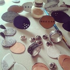 ..my table right now #botigajoveajoiers #enamel #jewelry #… | Flickr