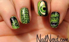 Hulk nails  #Avengers