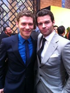 The Originals - Joseph Morgan and Daniel Gillies -god look at those dimples!!!