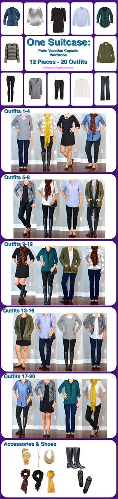 12 pieces 20 outfits core wardrobe