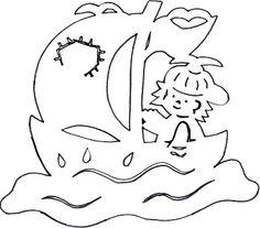 Junge im Segelboot Summer Crafts For Kids, Summer Kids, Kirigami, Paper Cutting Patterns, Bunting Garland, Paper Stars, Teaching Kindergarten, Pop Up Cards, Cricut