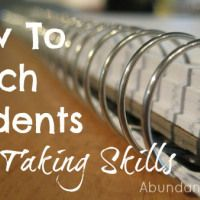 How to Teach Students Note Taking Skills