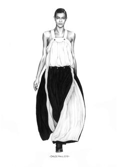Fashion illustration for Chloe Fall 2013 // Alison Sargent