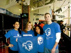 Jill Peterson '08 and friends showing their Pirate Pride at a Men's Basketball game against Syracuse on January 8, 2011.