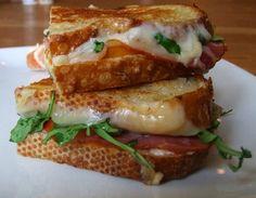The Adult Grilled Cheese - Goat Cheese, Tomato, Arugula, Prosciutto, Havarti