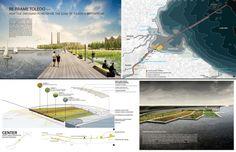 First prize winner: Re-Frame Toledo by Garrett Rock. Image via northcoastdesigncompetition.com