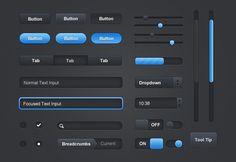 Noire UI Elements 2 - MediaLoot