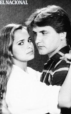 """Grecia Colmenares y Víctor Cámara, en una escena de la telenovela """"Topacio"""". Caracas, 1985. (CORTESIA RCTV / EL NACIONAL)"""