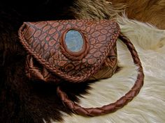 Unique hand made real leather imitating crocodile skin Hip bag/shoulder bag.