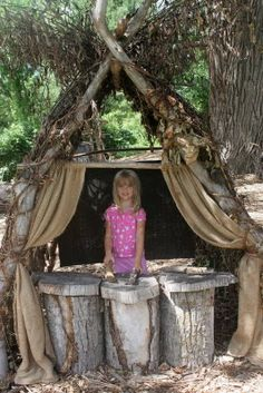 Nature play fort