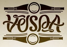A Vespa ambigram along with a bit of illustration.    Nikita Prokhorov // www.elusiveillusion.com