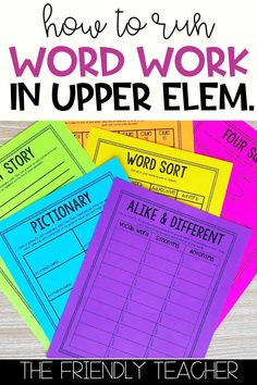 Teaching 5th Grade, 5th Grade Reading, Teaching Time, Vocabulary Graphic Organizer, Graphic Organizers, Word Work Centers, Reading Centers, Word Work Activities, Grammar Activities