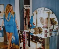 carrie bradshaw blue dress sex and the city movie