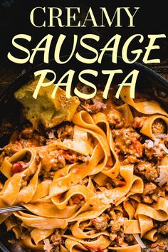 Italian sausage pasta is an awesome comfort food recipe for anytime the pasta cr. - Italian sausage pasta is an awesome comfort food recipe for anytime the pasta craving hits. Ground Italian Sausage Recipes, Sausage Recipes For Dinner, Sausage Pasta Recipes, Easy Pasta Recipes, Italian Recipes, Sweet Sausage Recipes, Sausage Meals, Ground Sausage, Italian Foods