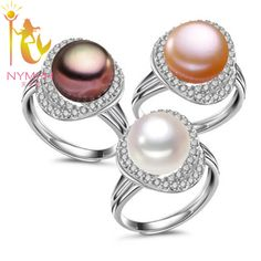 High-quality NYMPH max natural pearl jewelry rings Engagement wedding rings trendy gift  for women fine jewelry PJJZ011 #Affiliate