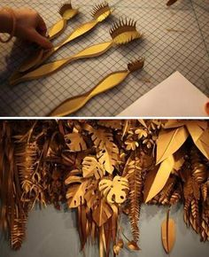 paper for window display Novembrino Titus some paper cutting inspiration… Handmade Flowers, Diy Flowers, Paper Flowers, Instalation Art, Paper Plants, Store Window Displays, Paper Leaves, Visual Display, Paper Decorations