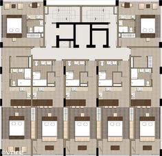 Fusion Suites Danang - Floorplan | vnre.blogspot.com/ | REIC Vietnam | Flickr Plan Hotel, Hotel Floor Plan, House Floor Plans, Flat Plan, Hotel Concept, Apartment Plans, Modern Architecture House, Hotel Lobby, Building Plans