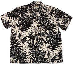 3dbace3f5f1 Tahitian Gardenia Black Rayon Men s Hawaiian Shirt Hawaii Outfits