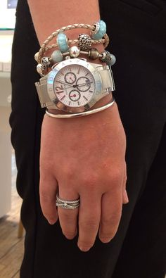 Imagine Grand watch & Essence bracelet with champagne leather