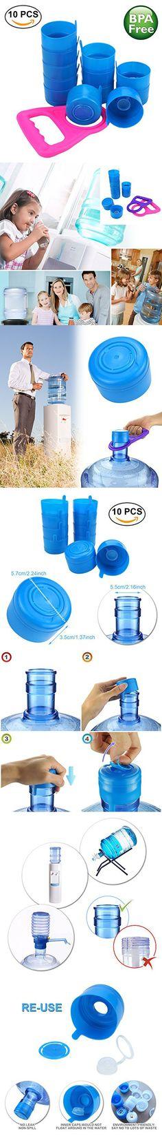 No Splash Cap Water Bottle Easy Load 55mm Snap On Aqua H2O Anti Splash Non Spill