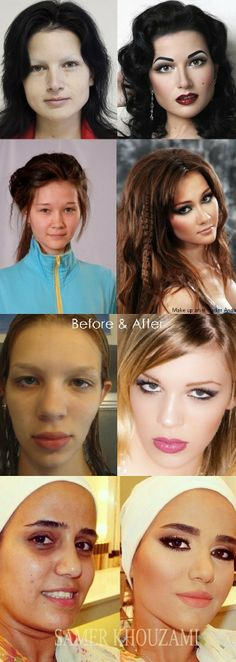 make up before & afters