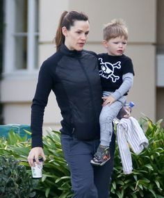 Jennifer Garner seen out and about with her son Samuel in Brentwood