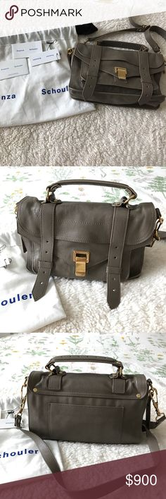 Proenza schouler ps1 tiny bag in taupe. Condition: very good. Comes with dust bag and tags. Proenza Schouler Bags Satchels