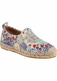 Marc by Marc Jacobs - Printed Flat Espadrille Cream Garden Leather