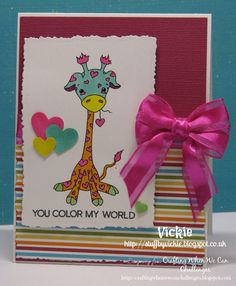 The CWWC Challenge  is to create something bright and colorful!  OddBall Art  is the challenge sponsor.      For my card I used Kawai...