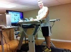 Gotta get one of these...a treadmill desk!! ;)