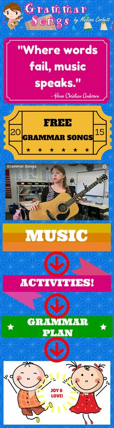 """Free...""""Melissa, as a teacher for 32 years, I have taught using music my whole career and have found your songs to be revolutionary. How did you write these amazing songs?"""" Melinda...I wish I could tell you how I write these songs; however, I truly can't explain how I write them. I was born with a hearing impairment and a love for music. Perhaps what I thought was my greatest weakness is actually my greatest strength. I wrote these songs so my students would learn these skills for life…"""