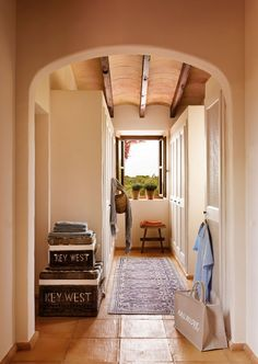 This Mallorca home belongs to architect, Amador Calafat-Busquets. 32 years ago, he fell in love and married a German girl and decided to st. Attic Remodel, Home, Attic Lighting, Attic Apartment, Small Attics, House, Rustic Remodel, Interior Design, Attic Conversion