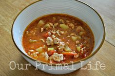 Our Primal Life: Pizza Soup - Kid Friendly Primal Soup