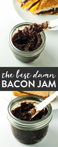 canning recipes - The Best Damn Bacon Jam Jelly Recipes, Bacon Recipes, Jam Recipes, Canning Recipes, Bacon Jam Canning Recipe, Maple Bacon Jam Recipe, Easy Jam Recipe, Candied Bacon, Sauces