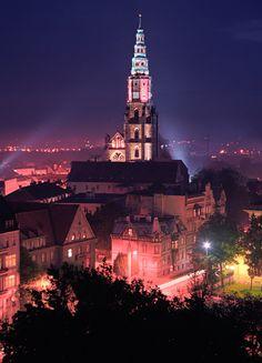 Świdnica Katedra Nocą