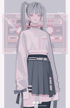 Discover recipes, home ideas, style inspiration and other ideas to try. Kawaii Anime Girl, Manga Kawaii, Cool Anime Girl, Anime Art Girl, Manga Girl, Anime Guys, Dark Anime Girl, Pretty Art, Cute Art