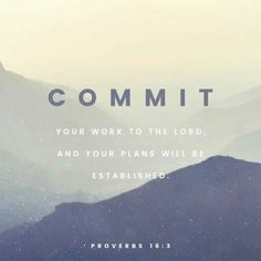 Commit your plans to the Lord!